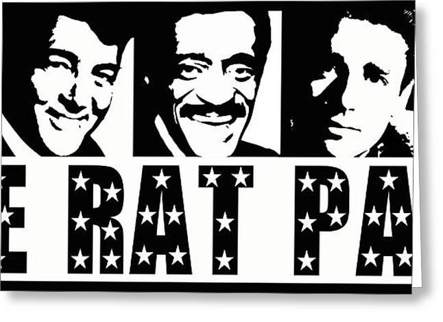 Crooner Greeting Cards - The Rat Pack Greeting Card by David G Paul