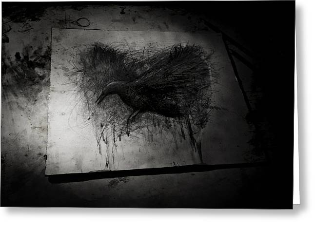 Heathen Greeting Cards - The Raven Il Greeting Card by Christian Klute
