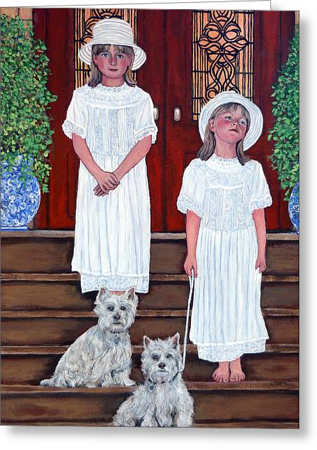 Royal Family s Paintings Greeting Cards - The Ray Twins Greeting Card by Tom Roderick