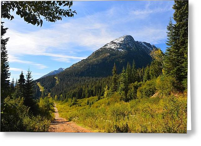 Randy Moss Photographs Greeting Cards - The rd to nowhere again   Greeting Card by Randy Giesbrecht