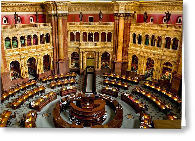 Arlington Greeting Cards - The Reading Room Greeting Card by Greg Fortier