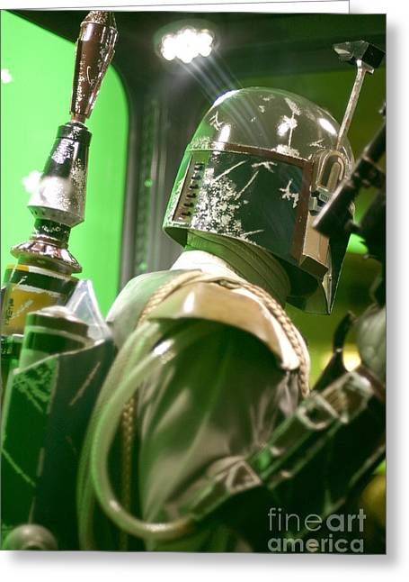 Movie Prop Greeting Cards - The Real Boba Fett 5 Greeting Card by Micah May