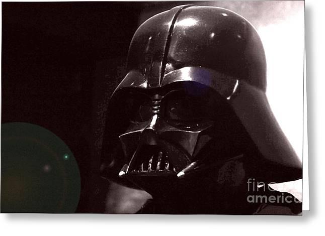 Movie Prop Photographs Greeting Cards - the Real Darth Vader Greeting Card by Micah May