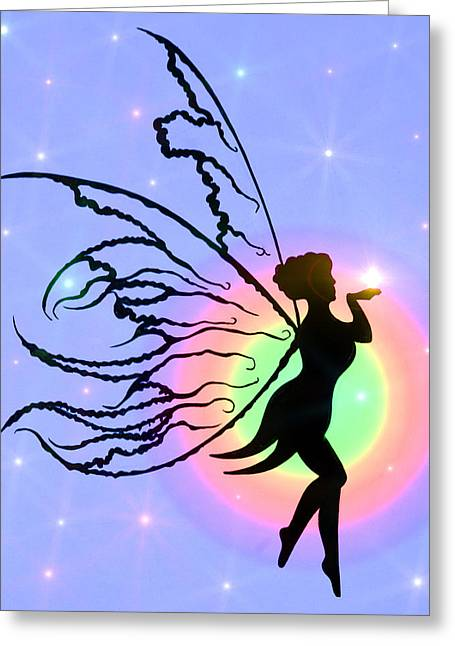 Night Angel Greeting Cards - The Real LOVE MAGIC Greeting Card by Alex Art