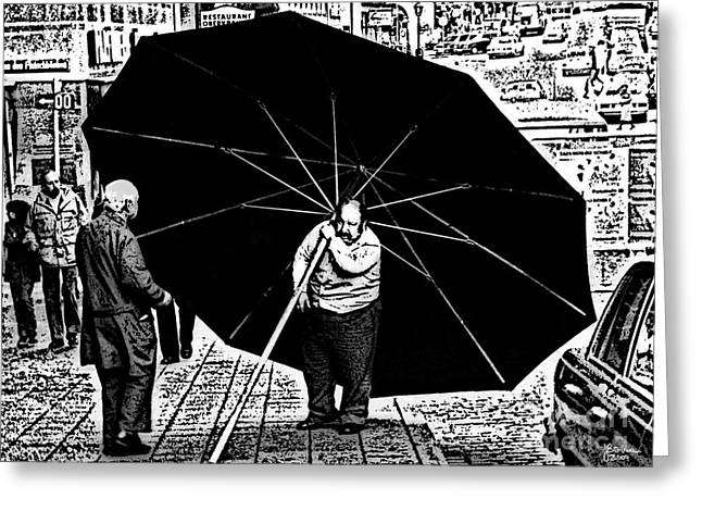 The Really Big Umbrella Greeting Card by Jeff Breiman