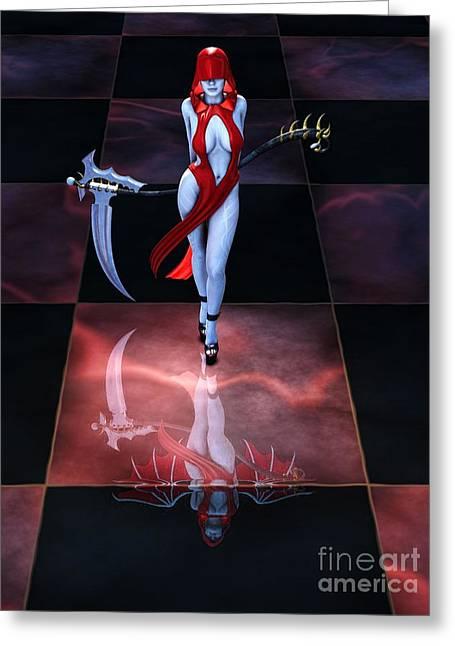 Ravishing Greeting Cards - The Reaper Reborn Greeting Card by Alexander Butler