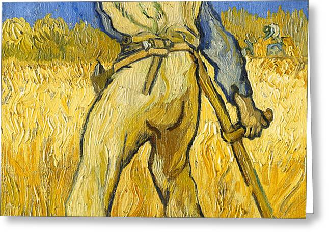 The Reaper Greeting Card by Vincent van Gogh