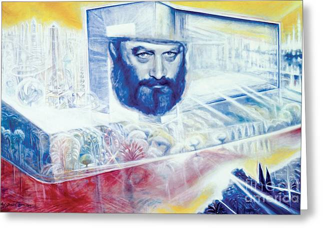 Lubavitcher Greeting Cards - The Rebbe Resurrected Greeting Card by Yael Avi-Yonah