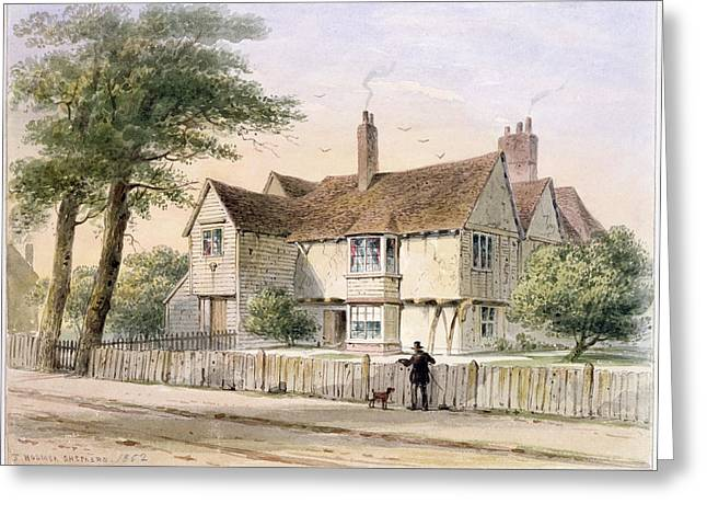 City Garden Greeting Cards - The Rectorial House, Newington Butts, 1852 Wc On Paper Greeting Card by Thomas Hosmer Shepherd