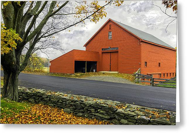John Greenleaf Greeting Cards - The Red Barn at the John Greenleaf Whittier Birthplace Greeting Card by Betty Denise