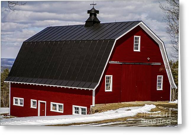 Farming Barns Greeting Cards - The Red Barn Greeting Card by Edward Fielding