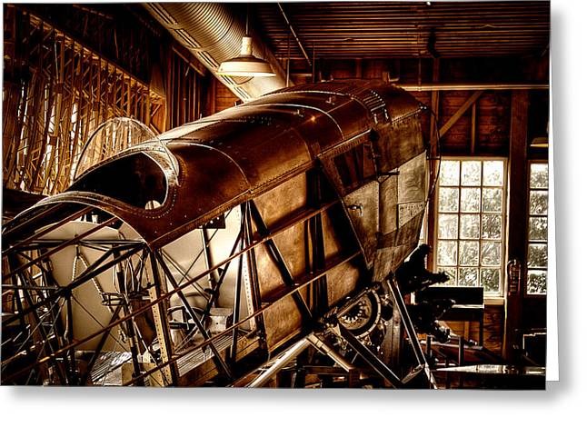 The Red Barn of the Boeing Company II Greeting Card by David Patterson