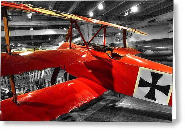Taking The Field Greeting Cards - The Red Baron Fokker Dr. I Greeting Card by John Straton