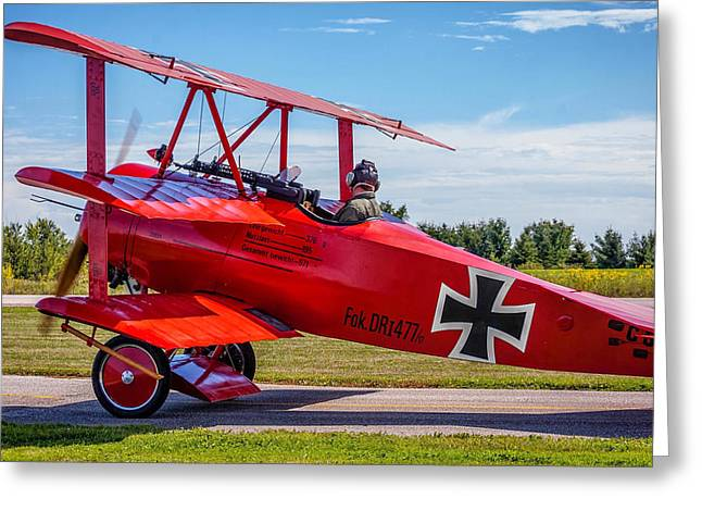 Iron Greeting Cards - The Red Baron Greeting Card by Steve Harrington