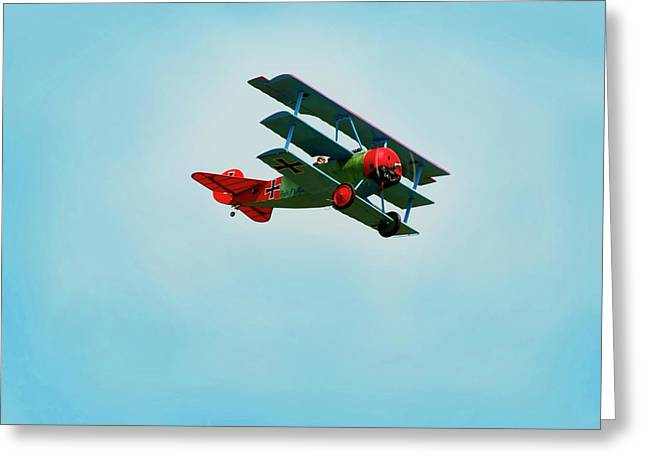 The Red Baron Greeting Card by Thomas Young