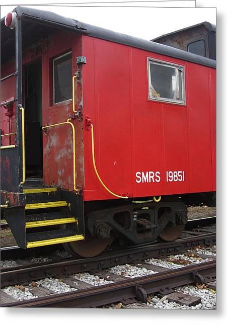 Guy Ricketts Photography Greeting Cards - The Red Caboose Greeting Card by Guy Ricketts