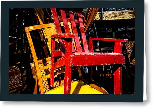 The Red Chair Greeting Card by Donna Lee