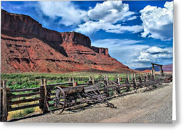 John Wayne Prints Greeting Cards - The Red Cliffs Greeting Card by Gregory Ballos