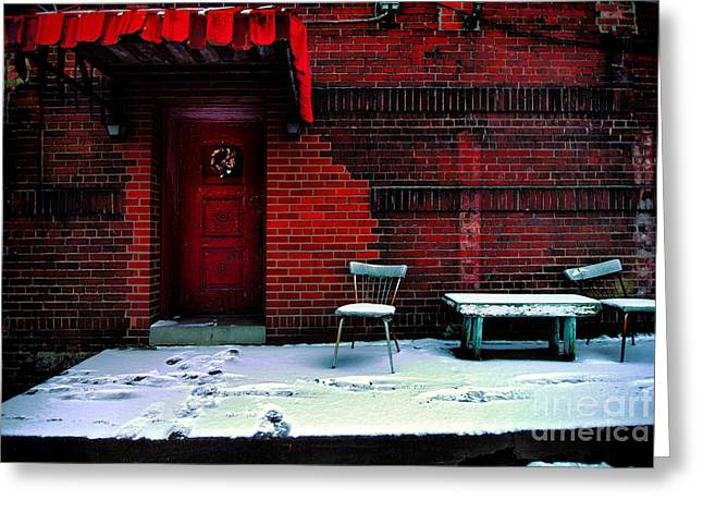 Entry-way Greeting Cards - The Red Door Greeting Card by Amy Cicconi