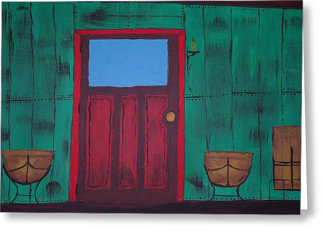 Keith Nichols Greeting Cards - The Red Door Greeting Card by Keith Nichols