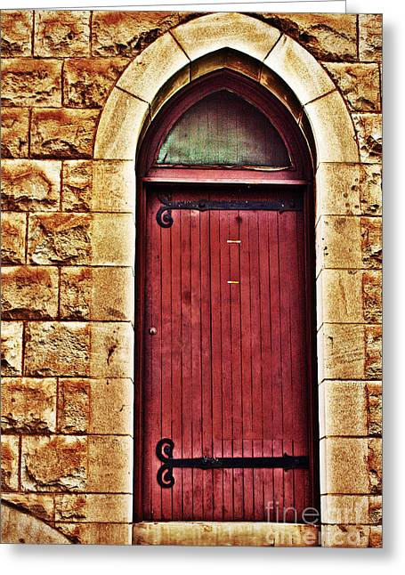 Doorway Digital Greeting Cards - The Red Door Greeting Card by Paul Topp