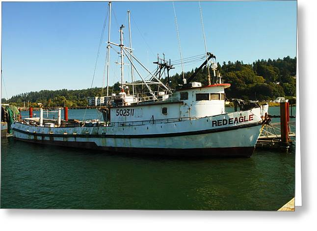 Oregon Fishing Greeting Cards - The Red Eagle Greeting Card by Jeff  Swan