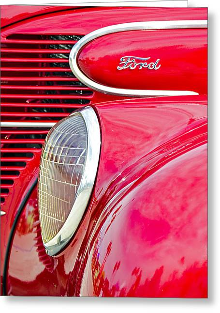 The Red Ford Greeting Card by Carolyn Marshall