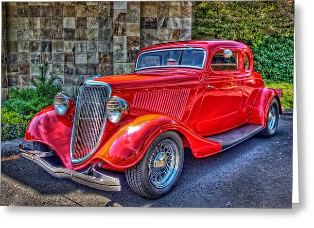 Digital Photography Greeting Cards - The Red Hot Rod Greeting Card by Thom Zehrfeld