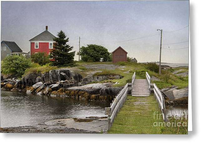 Jesse Stone Greeting Cards - The Red House Greeting Card by Karin Pinkham