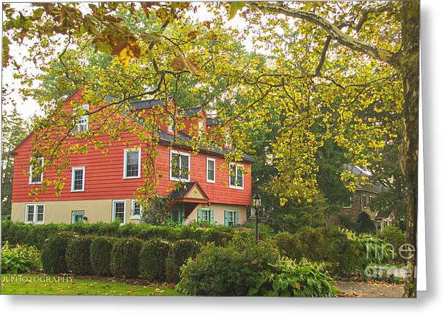 The Red House Greeting Card by Rima Biswas