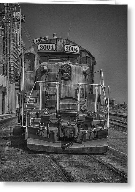 Keyes Greeting Cards - The Red Locomotive Greeting Card by Jim Thompson