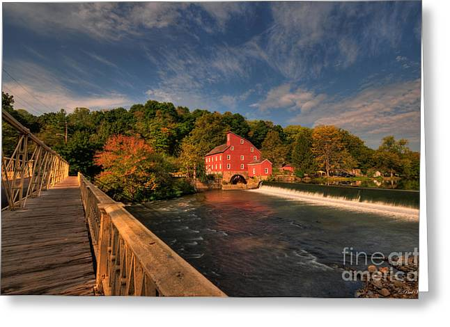 Franklin Farm Greeting Cards - The Red Mill Greeting Card by Paul Ward
