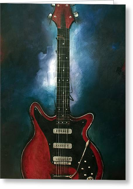 Adam Lambert Greeting Cards - The Red Special Greeting Card by Sean Parnell