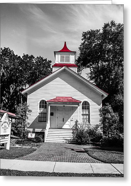 The Red Steeple Greeting Card by Steven  Taylor