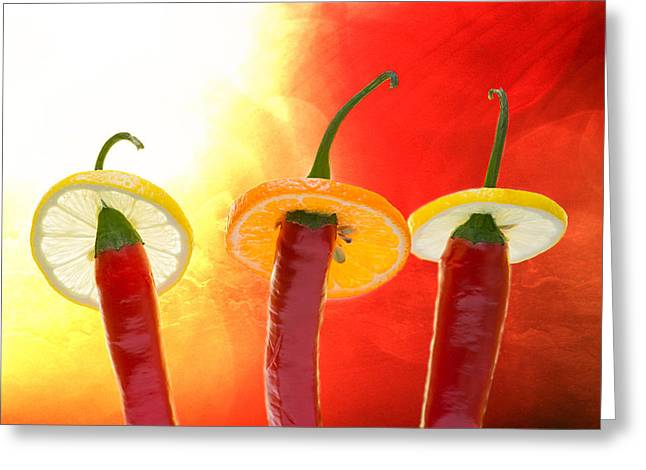 Red Hot Chili Peppers Greeting Cards - The Red - The Hot - The Chili Greeting Card by Alexander Senin