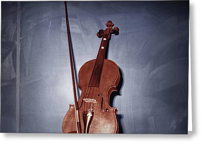 Randy Greeting Cards - The Red Violin Greeting Card by Randall Nyhof