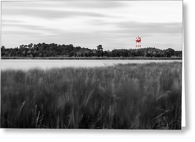 Auburndale Greeting Cards - The Red Water Tower Greeting Card by Clay Townsend