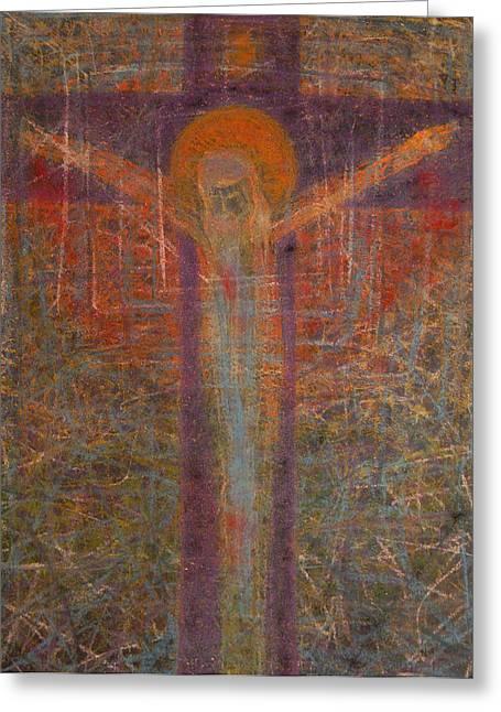 Adel Nemeth Greeting Cards - The Redeemer Greeting Card by Adel Nemeth