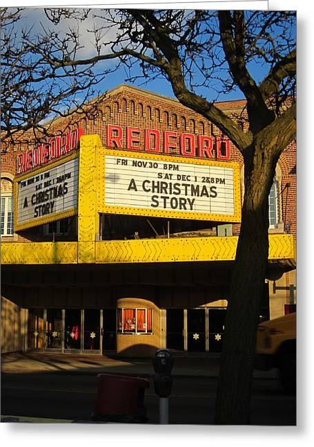 Guy Ricketts Photography And Art Greeting Cards - The Redford Theatre Greeting Card by Guy Ricketts