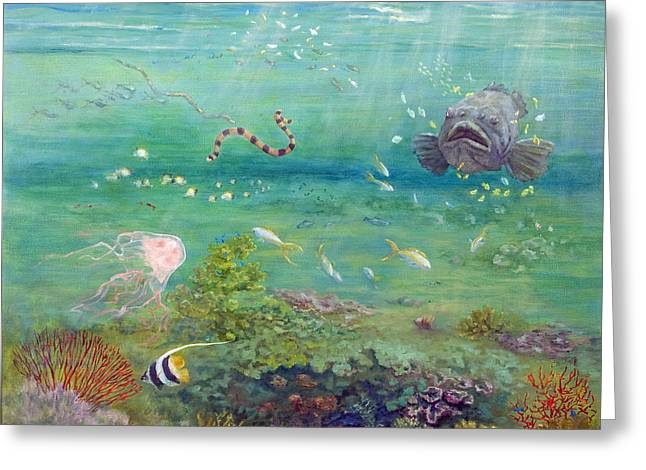 The Reef Dwellers Greeting Card by Marie Green