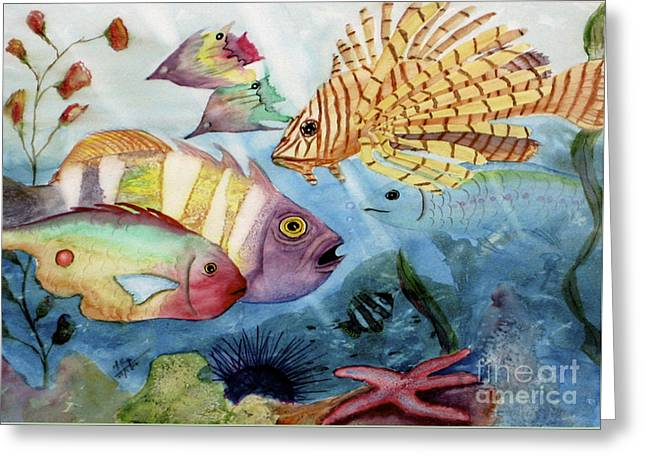 Mohamed Greeting Cards - The Reef Greeting Card by Mohamed Hirji