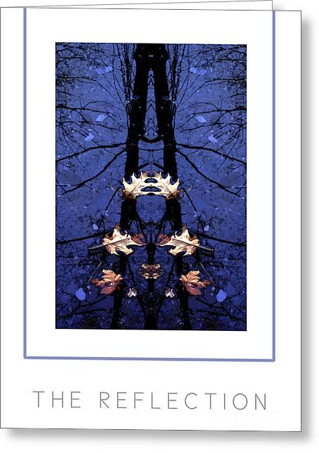 Abstract Water And Fall Leaves Greeting Cards - The Reflection poster Greeting Card by Mike Nellums
