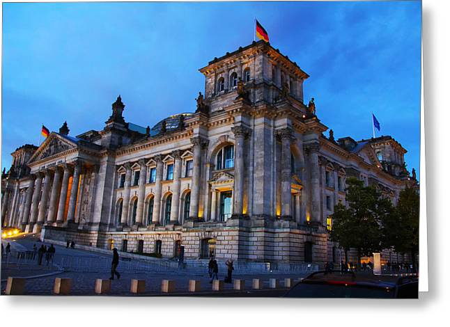 The Reichstag In Berlin Greeting Card by Mountain Dreams