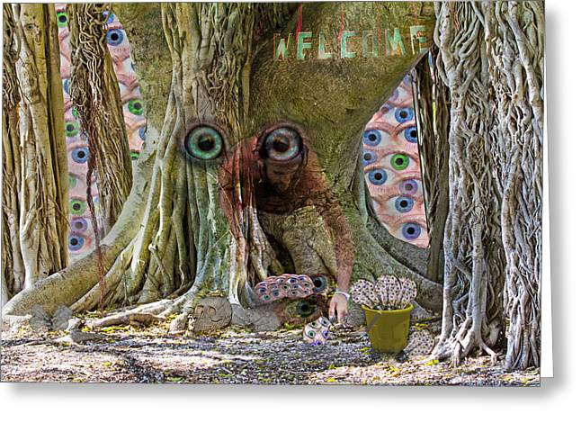 Fantasy World Greeting Cards - The Reincarnation of Seeing Greeting Card by Betsy C  Knapp
