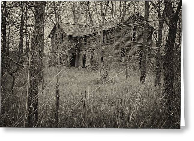 The House In The Woods Greeting Card by Mary Lee Dereske