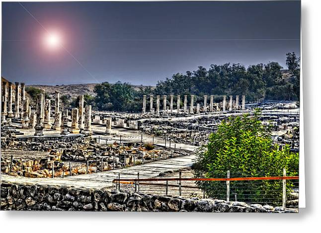 Beth Greeting Cards - The Remains of Bet Shean Greeting Card by Ken Smith