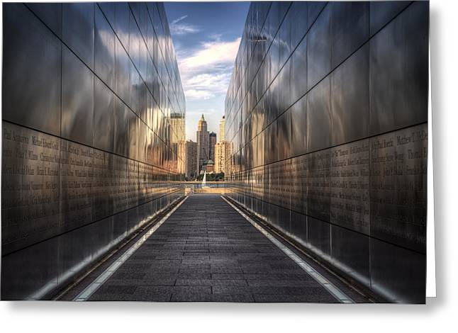 Wtc 11 Photographs Greeting Cards - The Remembered. Greeting Card by Rob Dietrich