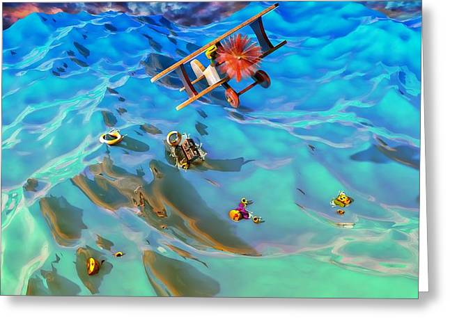 The Rescue Greeting Card by Adam Vance