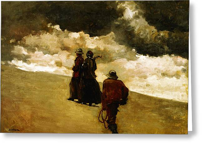 Winslow Homer Digital Art Greeting Cards - The Rescue Greeting Card by Winslow Homer