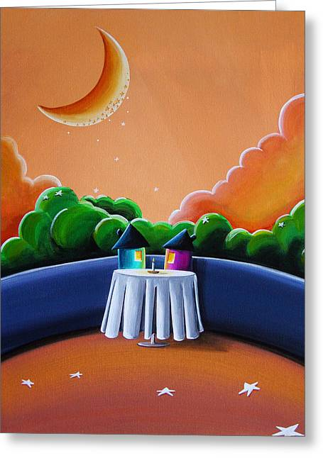 Dinner Greeting Cards - The Restaurant Greeting Card by Cindy Thornton